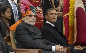 Obama with Modi at Republic Day Ceremony