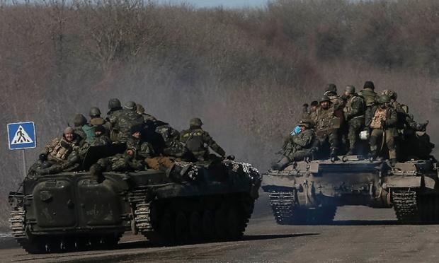 Retreating Ukrainian Soldiers