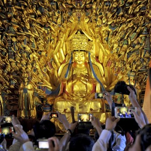 800-year-old Buddha statue with 1000 hands