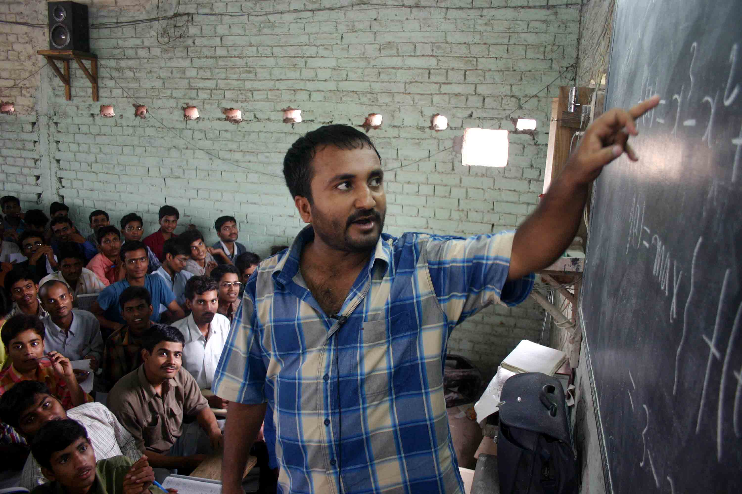 Anand Kumar in his class