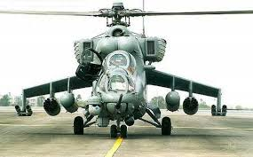 Mi-35 Hind E attack helicopters