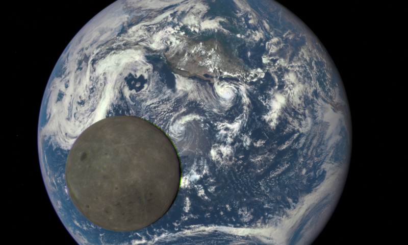 Moon Crossing Earth