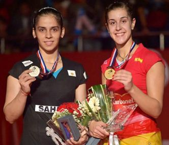 Saina Nehwal and Carolina Marin