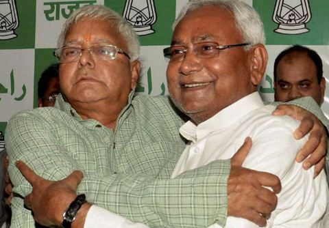 Lalu Prasad and Nitish Kumar -Bihar Elections2015