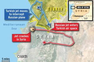 Map-showing-where-Russian-jet-was-shot-down-by-Turkey