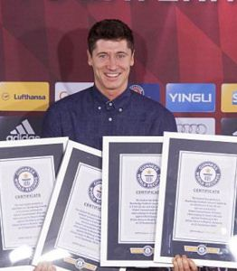 Robert Lewandowski guinness record