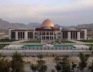 new Afghan Parliament House in Kabul